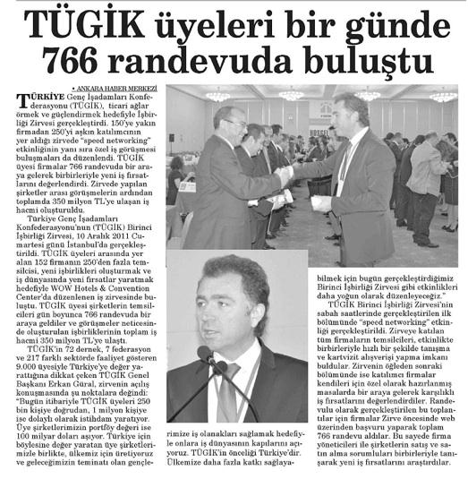 TÜGİK'te Speed Networking.